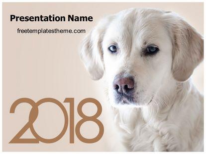 Free Dog Year Powerpoint Template Freetemplatestheme Com