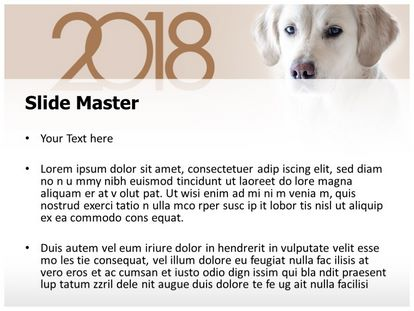 Dog Year Free PPT Background Template, PPT Slide2