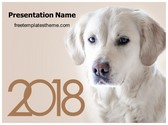 Free Dog Year PowerPoint Template Background, FreeTemplatesTheme