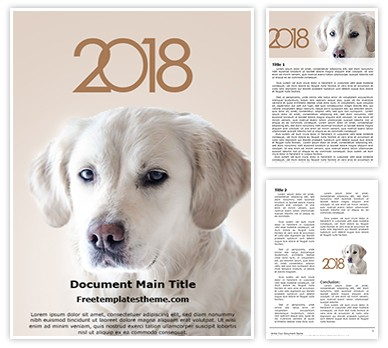Dog Year Free Word Template Design, freetemplatestheme.com