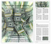 Free Dollar Background Word Template Background, FreeTemplatesTheme