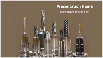 Drill Bits Free PPT Background Template Widescreen FreeTemplatesTheme