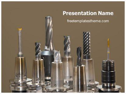 Drill Bits Free PPT Background Template freetemplatestheme.com