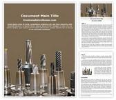 Free Drill Bits Word Template Background, FreeTemplatesTheme