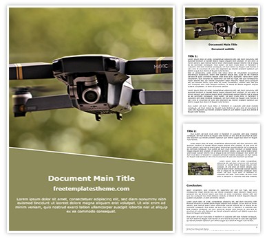 Drone Camera Free Word Template, freetemplatestheme.com