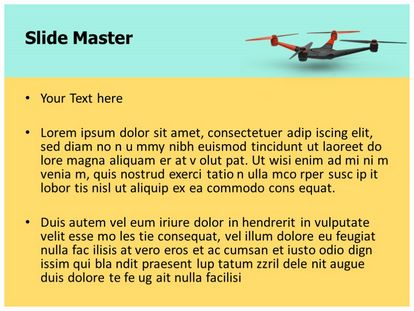 Free Drone Quadcopter Powerpoint Template