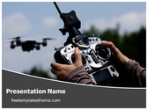 Free Drone Remote Control PowerPoint Template Background, FreeTemplatesTheme
