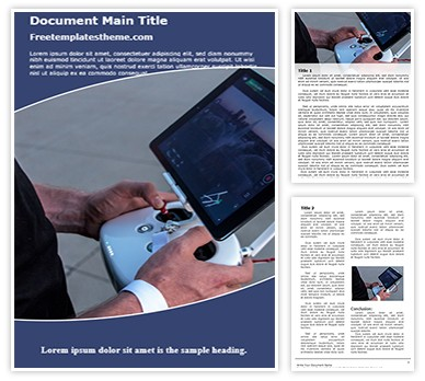 Drone Remote View Free Word Template Design, freetemplatestheme.com