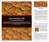 Free Dry Land Drought Word Template Background, FreeTemplatesTheme