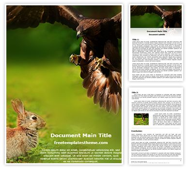 Eagle Hunting Free Word Template, freetemplatestheme.com