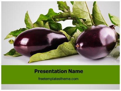 Free eggplant vegetable powerpoint template freetemplatestheme slide1g toneelgroepblik Choice Image