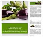 Free Eggplant Vegetable Word Template Background, FreeTemplatesTheme
