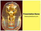 Free Egyptian pharaoh Tutankhamen PowerPoint Template Background, FreeTemplatesTheme