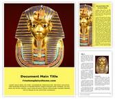 Free Egyptian pharaoh Tutankhamen Word Template Background, FreeTemplatesTheme