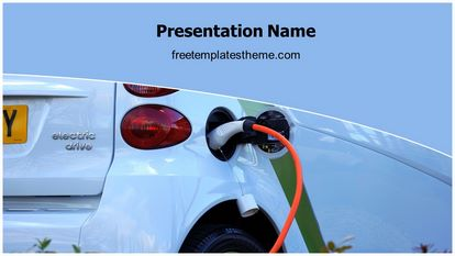 Electric Car Free Powerpoint Template Theme Widescreen, FreeTemplatesTheme
