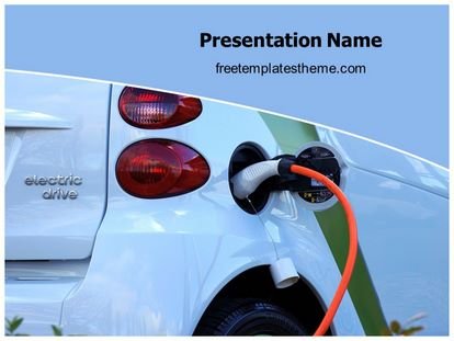 Electric Car Free Powerpoint Template Theme, freetemplatestheme.com