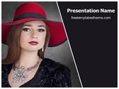Free Elegant Woman PowerPoint Template Background, FreeTemplatesTheme
