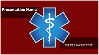 Emergency Medical Symbol Free PPT Background Template Widescreen FreeTemplatesTheme