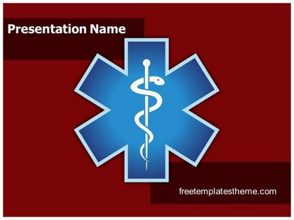 Free emergency medical symbol powerpoint template slide1g toneelgroepblik Choice Image
