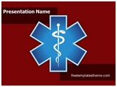 Free Emergency Medical Symbol PowerPoint Template Background, FreeTemplatesTheme