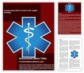 Free Emergency Medical Symbol Word Template Background, FreeTemplatesTheme