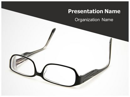 Free eyeglasses powerpoint template freetemplatestheme slide1g toneelgroepblik Gallery