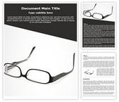 Free Eyeglasses Word Template Background, FreeTemplatesTheme