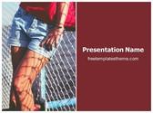 Free Female Shorts PowerPoint Template Background, FreeTemplatesTheme