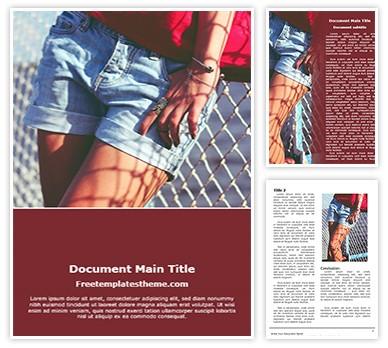 Female Shorts Free Word Doc Template, freetemplatestheme.com