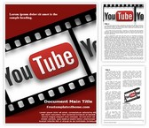 Free Film Reel Youtube Word Template Background, FreeTemplatesTheme