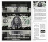 Free Financial Crisis Word Template Background, FreeTemplatesTheme