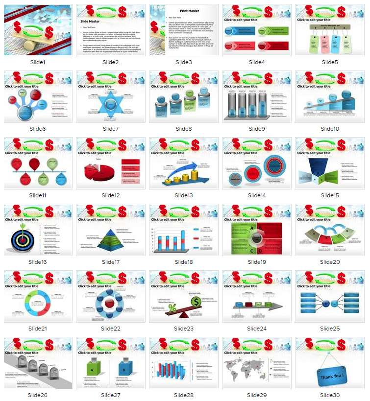 Financial Equilibrium PowerPoint Template, FreeTemplatesTheme