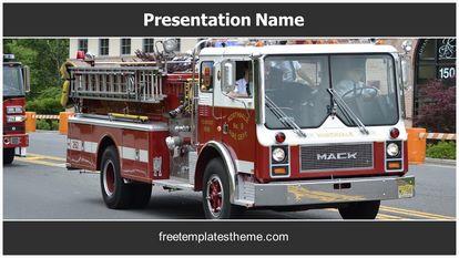 Fire Engine Free PPT Template Theme Widescreen, FreeTemplatesTheme