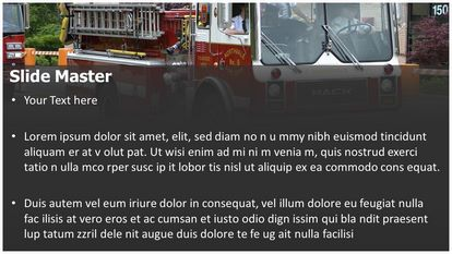 Fire Engine Free PPT Template Theme Widescreen, PPT Slide2