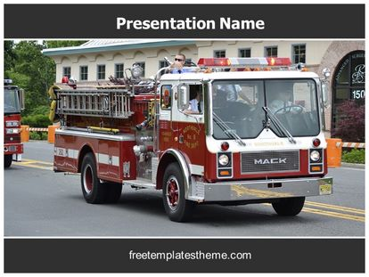 Fire Engine Free PPT Template Theme, freetemplatestheme.com