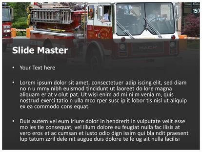 Fire Engine Free PPT Template Theme, PPT Slide2