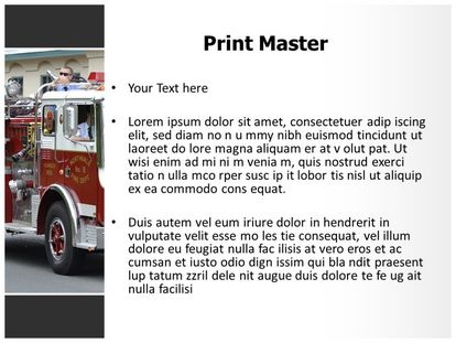 Fire Engine Free PPT Template Theme, PPT Slide3