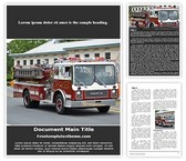 Free Fire Engine Word Template Background, FreeTemplatesTheme