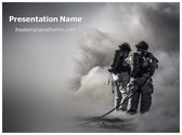 Free Fire Fighters PowerPoint Template Background, FreeTemplatesTheme
