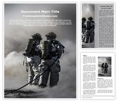 Free Fire Fighters Word Template Background, FreeTemplatesTheme