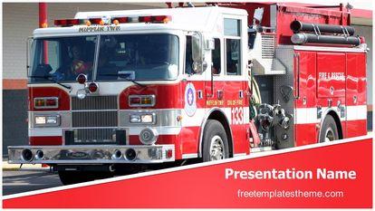 Fire Truck Free PPT Template Theme Widescreen, FreeTemplatesTheme