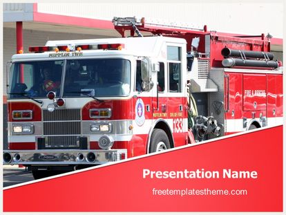 Free Fire Truck Powerpoint Template Freetemplatestheme