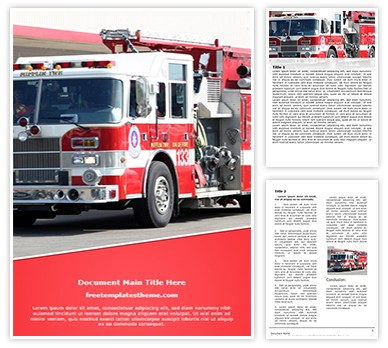 Free Fire Truck Word Template Freetemplatestheme