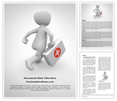 Free First Aid Doctor Word Template Background, FreeTemplatesTheme