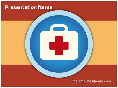 Free First Aid Icon Powerpoint Template Freetemplatestheme