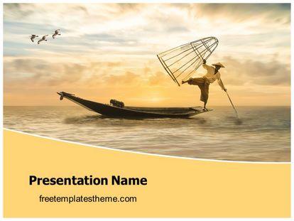 Fisherman Free Powerpoint Template Design, freetemplatestheme.com