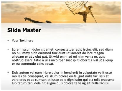 Fisherman Free Powerpoint Template Design, PPT Slide2