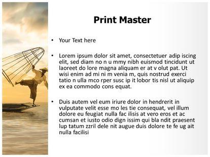 Fisherman Free Powerpoint Template Design, PPT Slide3