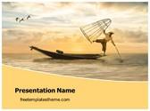 Free Fisherman PowerPoint Template Background, FreeTemplatesTheme