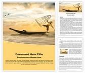Free Fisherman Word Template Background, FreeTemplatesTheme